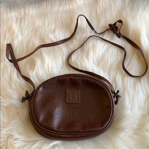 Vintage Fendi Zucchino Oval Crossbody Bag